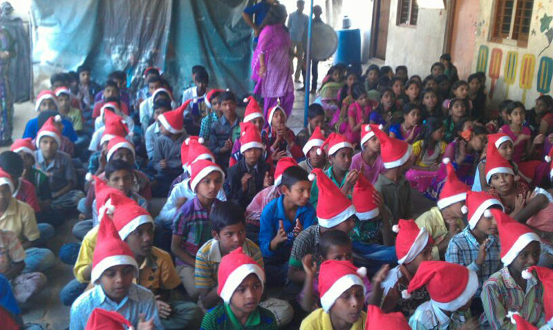 Christmas celebrations at Sphoorti Foundation